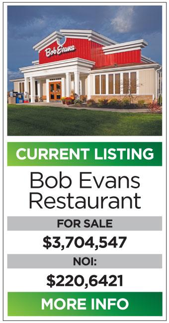 Bob Evans restaurant triple net properties for sale available john skinner properties