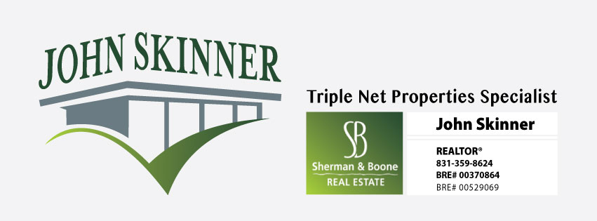 what is triple net lease property, nnn investment properties in capitols watsonville, santa cruz, salinas, john skinner sherman and boone real estate agent